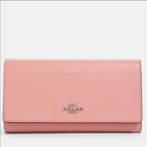 COACH | Pink Leather Trifold Wallet NWT